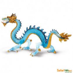 Dragón azul cristal